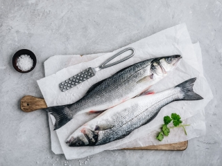 Raw Fresh Sea Bass